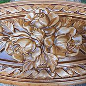 Для дома и интерьера ручной работы. Ярмарка Мастеров - ручная работа Шкатулка деревянная Розы, резьба по дереву. Handmade.