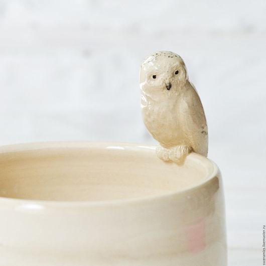 """Пиалы ручной работы. Ярмарка Мастеров - ручная работа. Купить Пиала """"Полярная сова"""". Handmade. Белый, сова гарри поттера"""