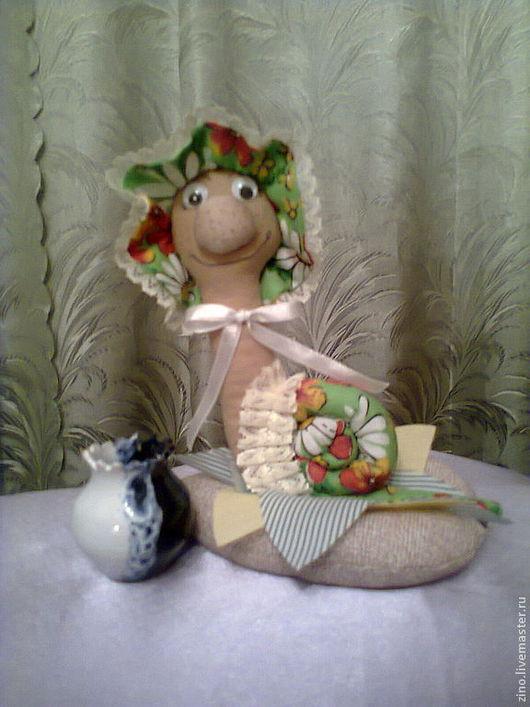 Куклы Тильды ручной работы. Ярмарка Мастеров - ручная работа. Купить Улитка Устинья. Handmade. Зеленый, хлопок 100%