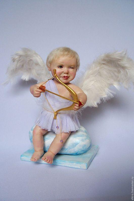 """Коллекционные куклы ручной работы. Ярмарка Мастеров - ручная работа. Купить Купидончик """"Не промахнусь!"""" (Из серии - ангелочки). Handmade."""