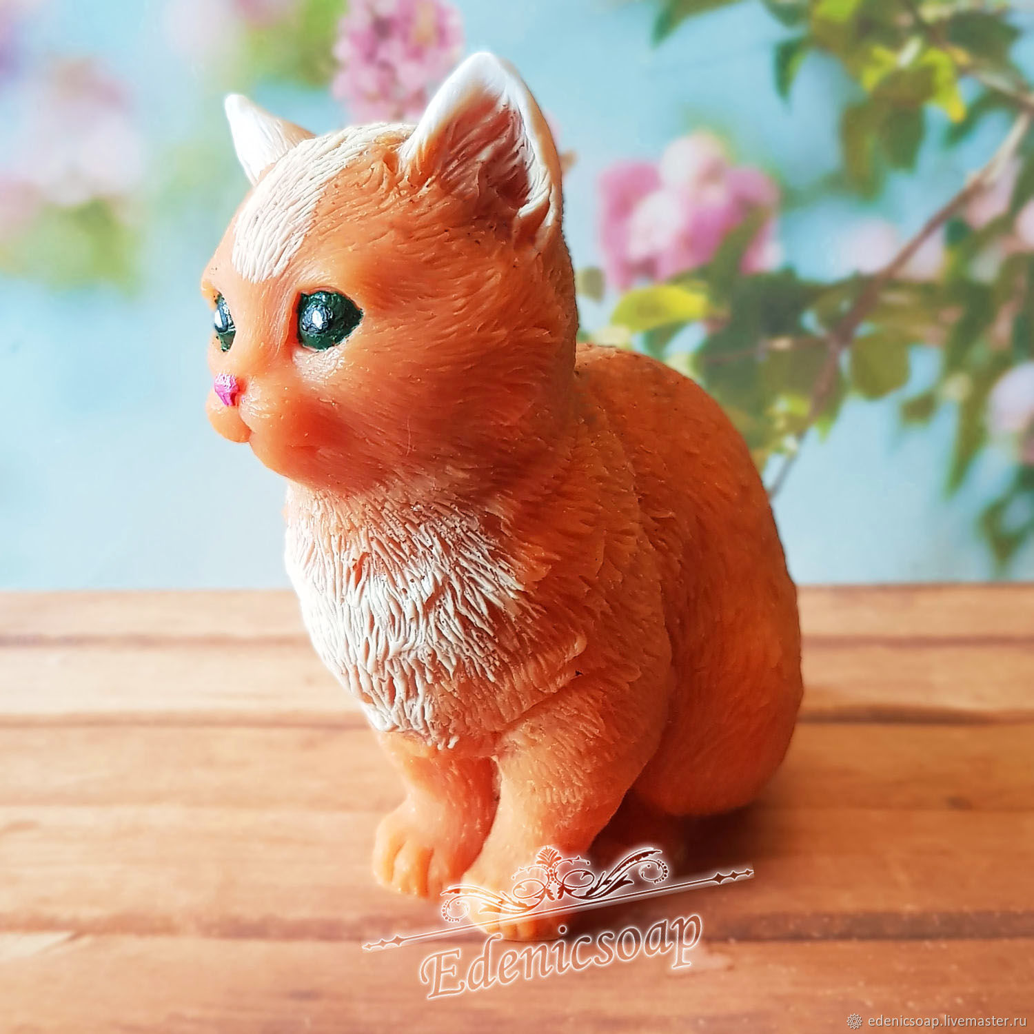 'Kitty' soap handmade red children gift animal interior, Soap, Moscow,  Фото №1