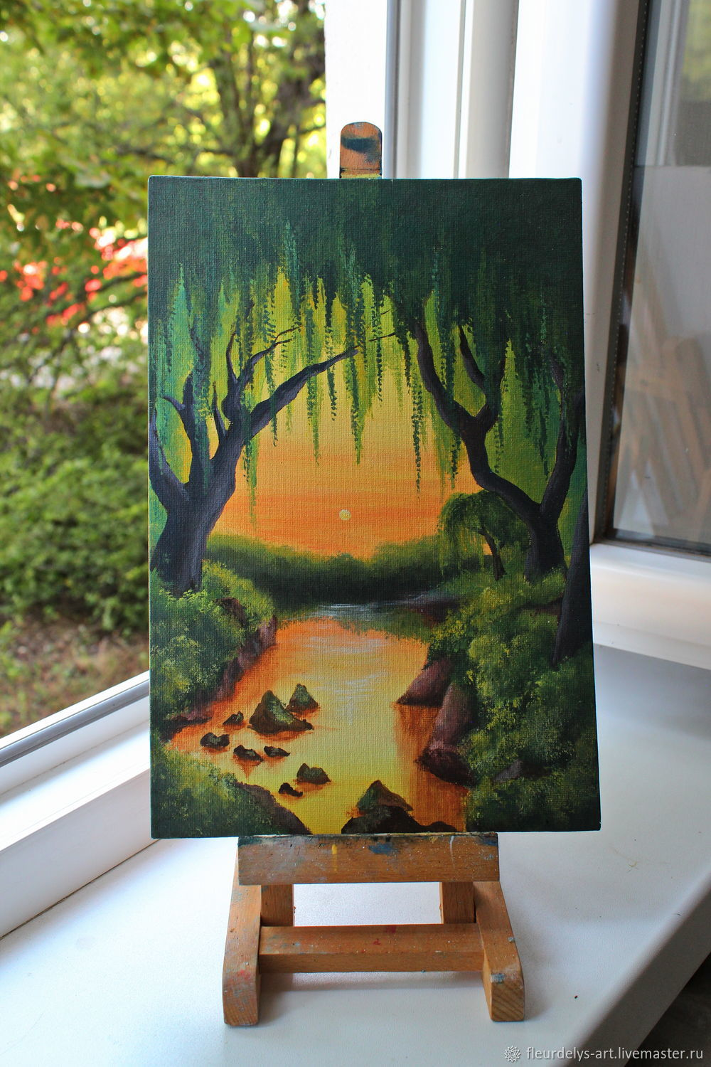 Mysterious forest. acrylic 20/30, Pictures, Armavir,  Фото №1