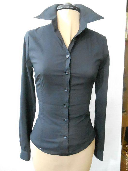 Блузки ручной работы. Ярмарка Мастеров - ручная работа. Купить Черная блузка - боди. Handmade. Черный, офисный стиль