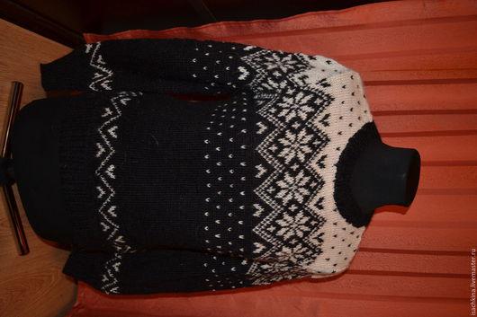 Кофты и свитера ручной работы. Ярмарка Мастеров - ручная работа. Купить Новогодний джемпер. Handmade. Чёрно-белый