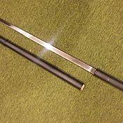 Сувениры и подарки handmade. Livemaster - original item A cane with a blade in silver. Handmade.