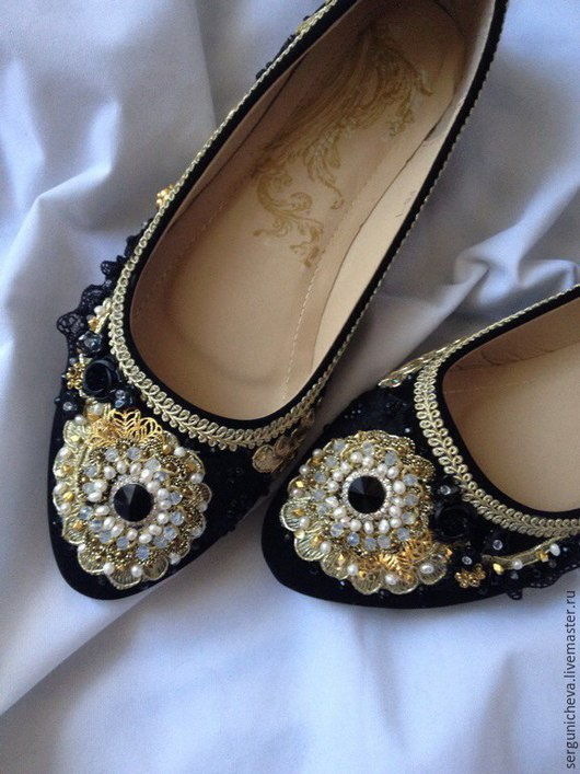 """Обувь ручной работы. Ярмарка Мастеров - ручная работа. Купить Балетки""""Рearl Аngel""""в стиле DG. Handmade. Балетки, стильная обувь"""
