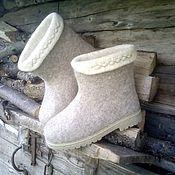 Обувь ручной работы. Ярмарка Мастеров - ручная работа Валенки на подошве короткие. Handmade.