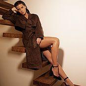 Одежда handmade. Livemaster - original item Faux suede women`s trench coat. Handmade.