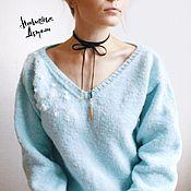 Одежда ручной работы. Ярмарка Мастеров - ручная работа Джемпер с вышивкой «Corona Borealis». Handmade.