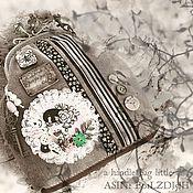Сумки и аксессуары ручной работы. Ярмарка Мастеров - ручная работа Сумка мадам Бо:) сумка на фермуАре бежевый шоколад бронза кожа купить. Handmade.