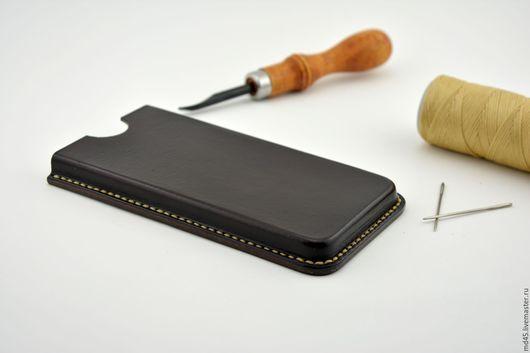 Для телефонов ручной работы. Ярмарка Мастеров - ручная работа. Купить Кожаный чехол для телефона. Handmade. Чехол для телефона