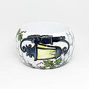Украшения handmade. Livemaster - original item Wooden bracelet with the painting