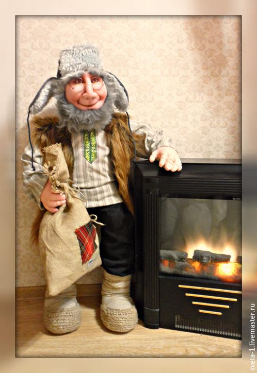 Сказочные персонажи ручной работы. Ярмарка Мастеров - ручная работа. Купить домовой. Handmade. Бежевый, капрон