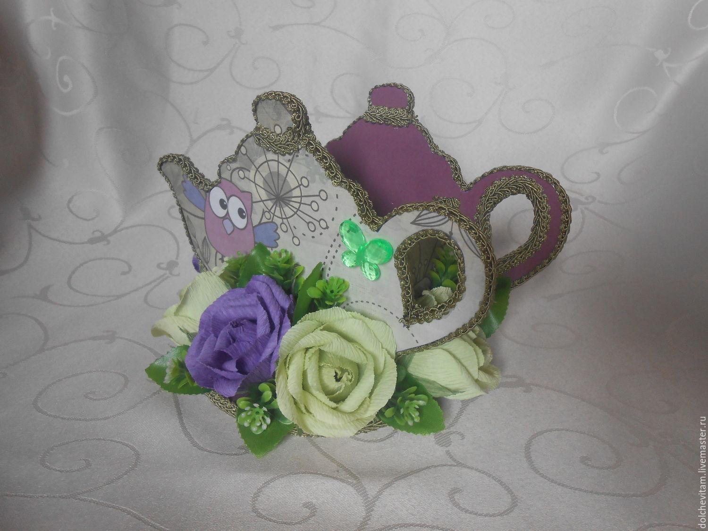 Розы из чайных пакетиков. Фото 61