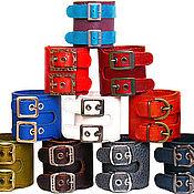 Украшения ручной работы. Ярмарка Мастеров - ручная работа кожаные браслеты с 2-мя пряжками. Handmade.