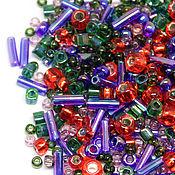 Бисер ручной работы. Ярмарка Мастеров - ручная работа Бисер Микс TOHO №3226 зелено-фиолетово-красный TOHO Beads 10гр. Handmade.