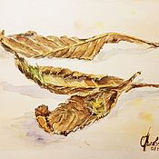Картины и панно handmade. Livemaster - original item Painting Watercolor Autumn Leaves. Handmade.