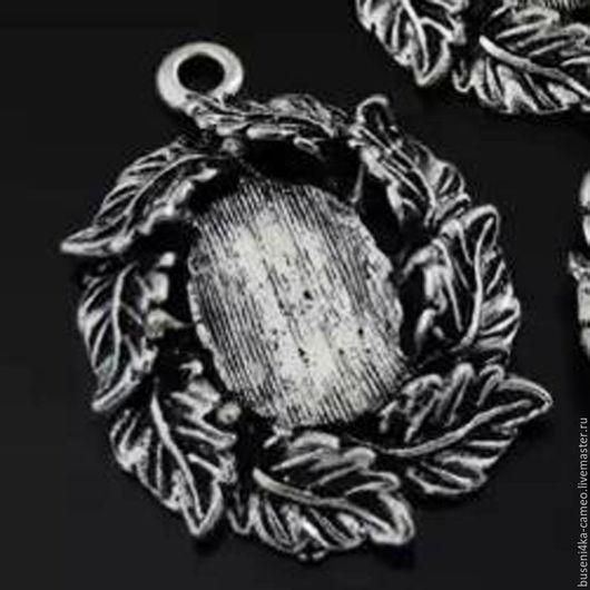 Для украшений ручной работы. Ярмарка Мастеров - ручная работа. Купить Оправа Листья 13х18мм, античное серебро (1шт). Handmade.