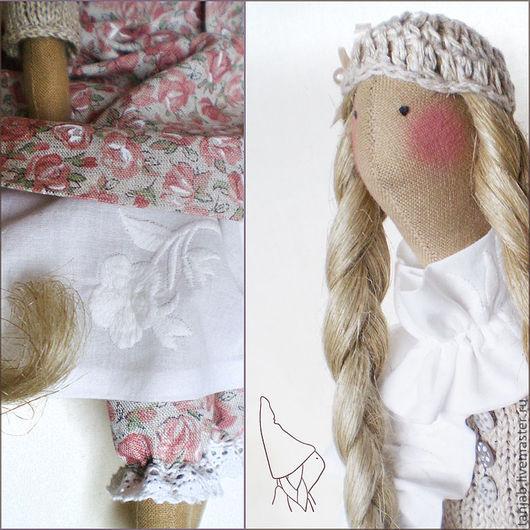 Куклы Тильды ручной работы. Ярмарка Мастеров - ручная работа. Купить Тильда Сабина, кукла в бохо стиле. Handmade. Розовый