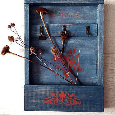 For home and interior handmade. Livemaster - original item A wall keybox Nice French Village. Handmade.