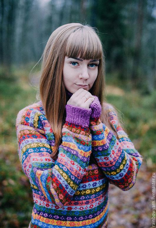 """Кофты и свитера ручной работы. Ярмарка Мастеров - ручная работа. Купить Платье """"Дитя леса"""". Handmade. Комбинированный, свитер"""