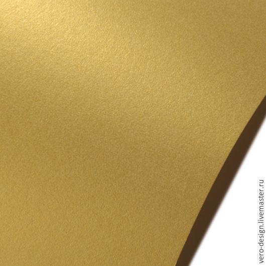 Открытки и скрапбукинг ручной работы. Ярмарка Мастеров - ручная работа. Купить Картон дизайнерский перламутровый Золото, 260 г, 30 Х 30 см. Handmade.
