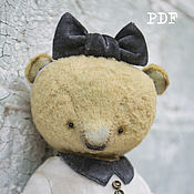 Материалы для творчества handmade. Livemaster - original item OOAK Artists Teddy Bear pattern.. Handmade.