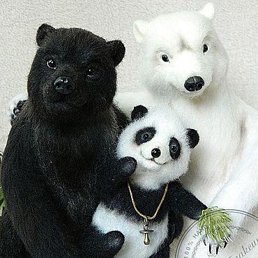 """Куклы и игрушки ручной работы. Ярмарка Мастеров - ручная работа Игрушки: Семейная композиция """"Три Медведя"""".. Handmade."""