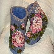 """Обувь ручной работы. Ярмарка Мастеров - ручная работа Валеночки """"Пионов розовая пена..."""". Handmade."""