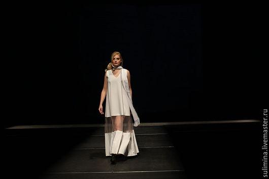 Платья ручной работы. Ярмарка Мастеров - ручная работа. Купить Платье белое в пол Й. Handmade. Белый, дизайнерское платье