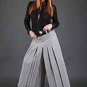Одежда handmade. Livemaster - original item Wide-leg cotton pants, Loose trousers-PA0126CT. Handmade.