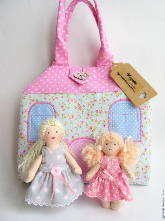 Сумочка-домик для куклы развивающая игрушка выкройки мастер-класс Ярмарка мастеров Ольга Вайда