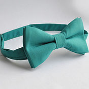 Аксессуары handmade. Livemaster - original item Tie green Classic / bow tie green solid color. Handmade.