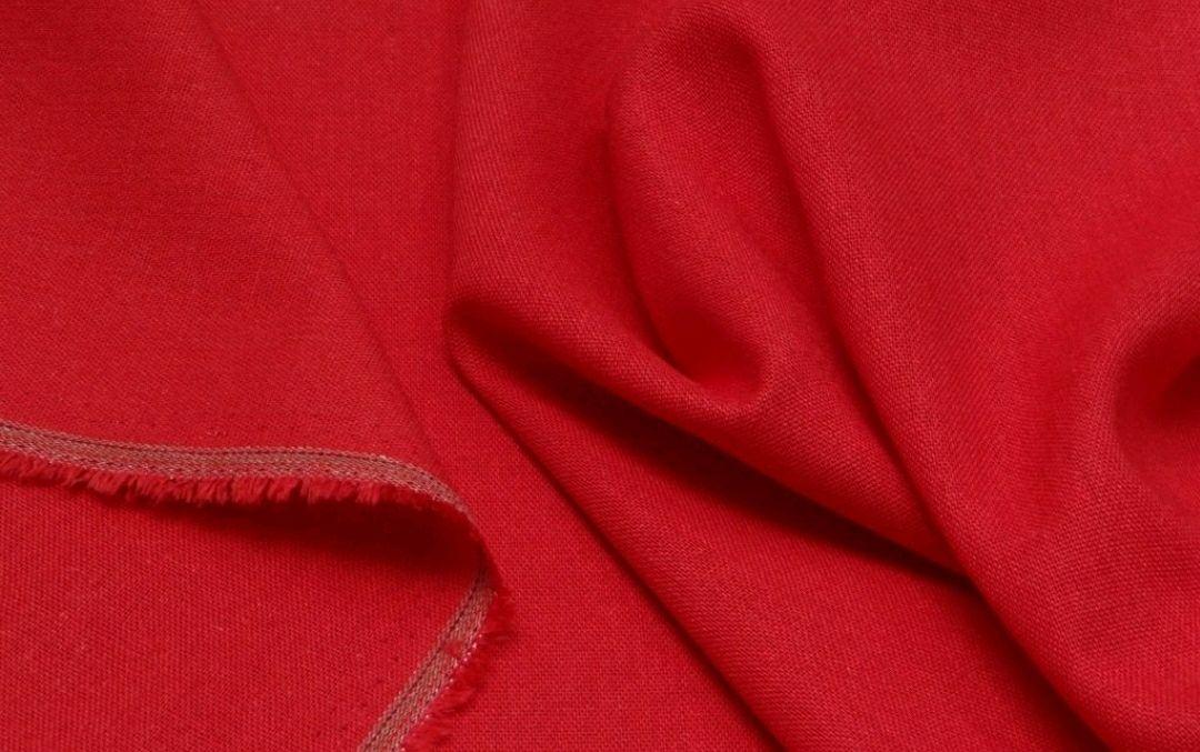 Ткань лен , Нм02.1 красный, Ткани, Москва,  Фото №1