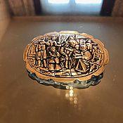 """Винтаж ручной работы. Ярмарка Мастеров - ручная работа Винтажная брошь """"Городская зарисовка"""" (Голландия). Handmade."""