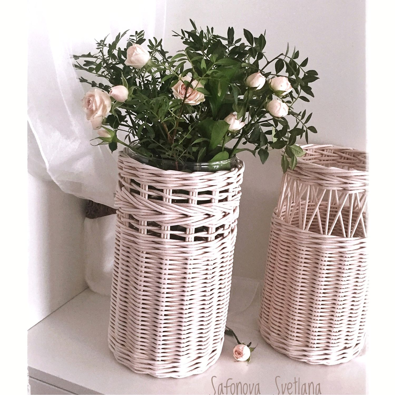 Плетеная ваза «Оливия», Вазы, Екатеринбург,  Фото №1
