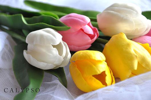 """Цветы ручной работы. Ярмарка Мастеров - ручная работа. Купить Тюльпаны """"Тепло"""". Handmade. Глина, тайская глина, проволока"""