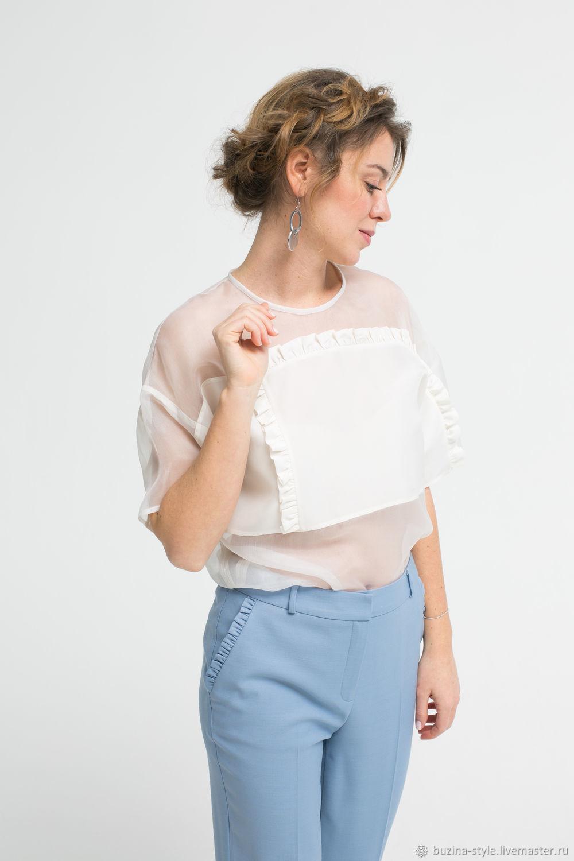 dcfab9b1593 Блузки ручной работы. Ярмарка Мастеров - ручная работа. Купить Блуза из  органзы и шелка ...