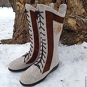 """Обувь ручной работы. Ярмарка Мастеров - ручная работа Валяные сапожки """"Север"""". Handmade."""