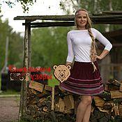 Одежда handmade. Livemaster - original item Skirt with Slavic ornament