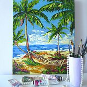 Картины и панно handmade. Livemaster - original item Seascape oil