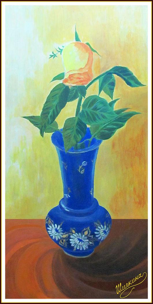 Натюрморт ручной работы. Ярмарка Мастеров - ручная работа. Купить картина  Роза. Handmade. Роза, картина темперой, цветы