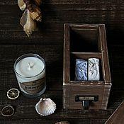 """Косметика ручной работы. Ярмарка Мастеров - ручная работа Коробочка  """"Sea"""" (мыло и свеча). Handmade."""