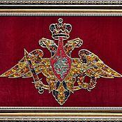 Подарки к праздникам handmade. Livemaster - original item The coat of arms of the Ministry of defense of amber. Handmade.
