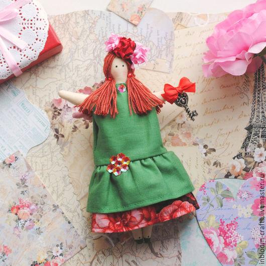 Куклы Тильды ручной работы. Ярмарка Мастеров - ручная работа. Купить Тильда Ангел Фрида (17 см). Handmade. Зеленый