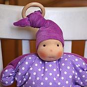 Куклы и игрушки ручной работы. Ярмарка Мастеров - ручная работа Сиреневая Соня  - первая куколка для самых маленьких. Handmade.