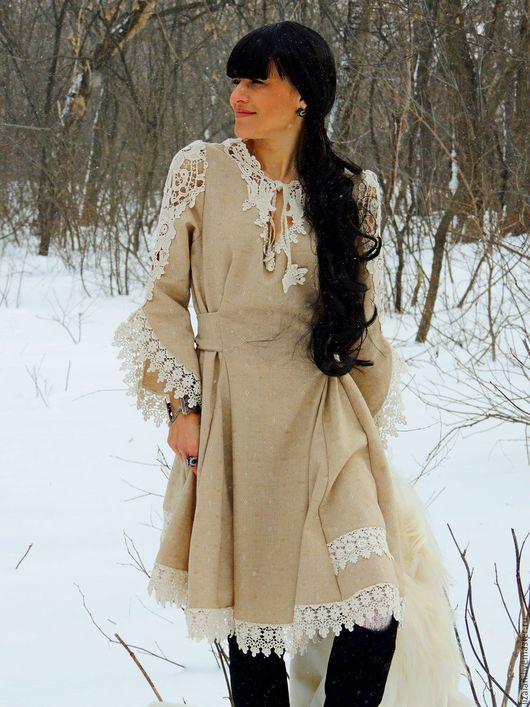 стиль бохо, купить бохо, платье бохо, платье с кружевом, платье зимнее, платье из шерсти