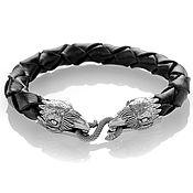 Украшения handmade. Livemaster - original item Sterling silver raven bracelet. Handmade.