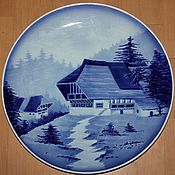 Винтаж handmade. Livemaster - original item Two antique Christmas plates, Hornberg, Germany,1822-1906. Handmade.