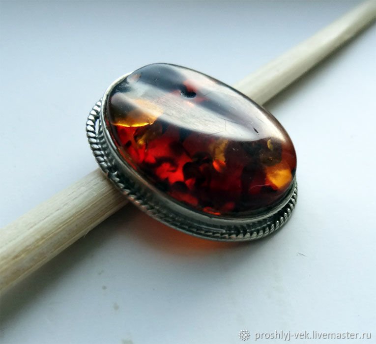 Pendant with amber, Vintage pendants, Moscow,  Фото №1